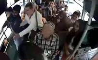 KARAKÖY - Halk Otobüsündeki Bıçaklama Kameralara Yansıdı