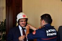1 EKİM - İtfaiyeciler Vali Karaloğlu'nu Ziyaret Etti