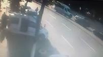 DİREKSİYON - Sürücüsünün Direksiyon Başında Uyuduğu Öğrenci Servisinin Kaza Anı Kamerada