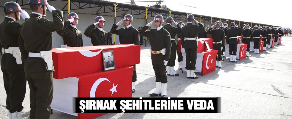 Şırnak'ta şehit düşen 6 asker için tören düzenlendi