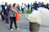 İTFAİYE MÜDÜRÜ - Tekstil Fabrikasında Yangın Tatbikatı
