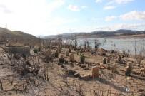 KÖY MEZARLIĞI - Baraj suları çekilince eski köy yeniden ortaya çıktı