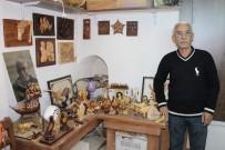AFYONLU - 50 Yıllık Mobilya Ve Ahşap Oyma Ustası Sanatını Anlattı