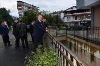 DSİ Genel Müdürü Murat Acu, Sel Felaketinin Yaşandığı Trabzon'un Beşikdüzü İlçesinde İncelemelerde Bulundu