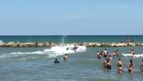BOĞULMA TEHLİKESİ - Denizde Can Pazarı Kameraya Yansıdı