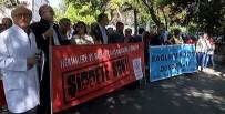 CERRAHPAŞA TıP FAKÜLTESI - Sağlık Çalışanları Şiddeti Protesto Etti