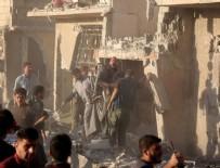 SURİYE - Şam'da yerleşim yerine yapılan saldırıda 7 çocuk öldü