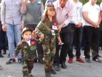 HAVA ER EĞİTİM TUGAYI - 8 Yaşındaki Ecrin Şehit Babasını Asker Selamı İle Uğurladı