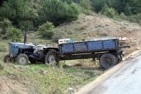 KURBAN PAZARI - Kastamonu'da Traktör Kazası Açıklaması 1 Yaralı