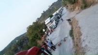 KAYABAŞı - Milas'ta Maden Kamyonu Protestosu