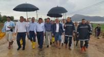 ATAY USLU - Vali Karaloğlu, Yağıştan Etkilenen Elmalı'da İncelemede Bulundu