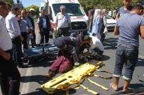 ADıYAMAN ÜNIVERSITESI - Elektrikli Bisikletin Çarptı Suriyeli Bayan Yaralandı
