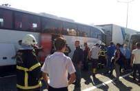 SAHİL YOLU - Ordu'da Zincirleme Kaza Açıklaması 15 Yaralı