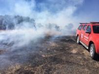 NEVŞEHİR BELEDİYESİ - Sarıyaprak Mevkiinde Ki Arazi Yangını Söndürüldü