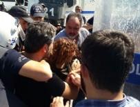 POLİS MÜDAHALE - Diyarbakır'da öğretmenler protestosunda olay çıktı