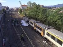TREN KAZASı - İspanya'da tren kazası