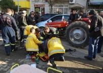 Dingili Kırılan Traktör Otomobile Çarptı Açıklaması 2 Yaralı