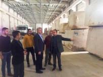 Başkan Memiş Doğal Taş Fabrikasında İncelemelerde Bulundu