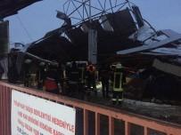 VERGİ DAİRESİ - Çanakkale'de Pazar Yerinin Çatısı Çöktü