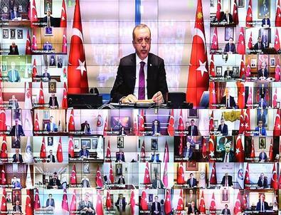 Cumhurbaşkan Erdoğan 81 il valisiyle telekonferans bağlantısı yaptı
