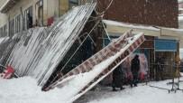 Kar İş Yerlerinin Tentelerini Yıktı