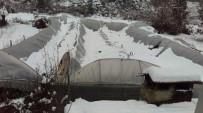Sütçüler'de Seraları Kar Vurdu