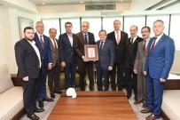 VOLEYBOL FEDERASYONU - Voleybol Federasyonu'ndan Başkan Uğur'a Ziyaret