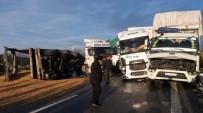 GİZLİ BUZLANMA - Aydın'da Nadir Görülen Kar Buzlanma Kazalara Neden Oldu