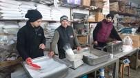 Edirne'de Kara Kış Tuz Satan Esnafa Yaradı