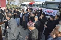 Halep İçin Yardım TIR'ları Yola Çıktı