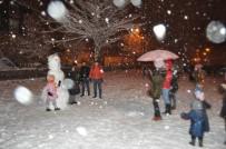 Kırklarelililer Kar Keyfini Festival Alanında Yaşadı