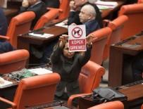 KANUN TEKLİFİ - Meclis'te tartışma yaratan afiş