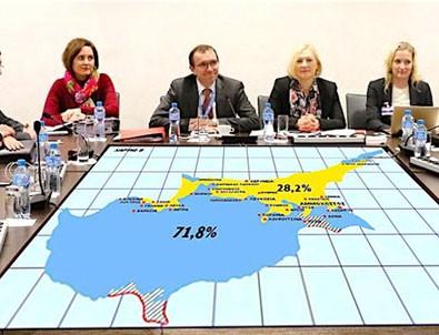 Rumların Kıbrıs haritası sızdı yine aynı zihniyet!