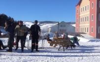 GÜNEŞLI - Sarıkamış Cıbıltepe Kayak Merkezi'ne Yoğun İlgi