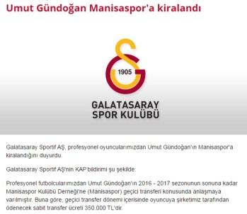 Galatasaraylı isim Manisaspor'a Kiralandı