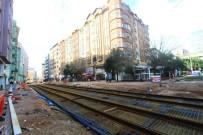 CAMİİ - Adliye Ve Yeni Cuma Önünde Tramvay Çalışmaları İlerliyor