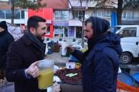ÇAM SAKıZı - Ak Parti'den Pazarcı Esnafına Sıcak Çorba