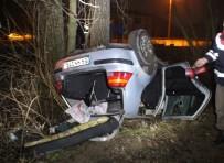 Akyazı'da Otomobil Şarampole Uçtu Açıklaması 1 Yaralı