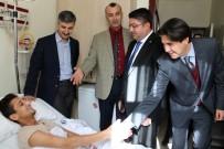 ŞAHINBEY ARAŞTıRMA VE UYGULAMA HASTANESI - Avukatlardan El Bab Operasyonunda Yaralanan Askerlere Ziyaret