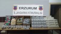 Erzurum'da 3 Bin 360 Paket Kaçak Sigara Ve 845 Adet Cep Telefonu Ele Geçirildi