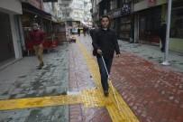 Fatsa'da Görme Engelliler İçin Kabartmalı Yollar Yapılıyor
