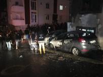 EMIRGAN - Sancaktepe'de Park Halinde Bulunan İki Otomobil Alev Alev Yandı