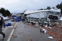 GİZLİ BUZLANMA - Afyonkarahisar'da Zincirleme Trafik Kazası (2)