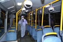 Halk Otobüsleri Ve Servisler Dezenfekte Ediliyor