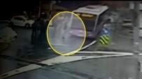 SARIYER - İETT Otobüsün Ünlü Spikere Çarpma Anı Kamerada