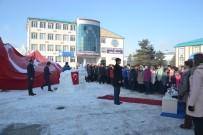 FEN EDEBİYAT FAKÜLTESİ - 'Kardaki İz' Konulu Kardan Heykel Sergisi Açıldı