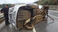 Karşı Şeride Geçen Otomobil Takla Attı Açıklaması 1 Yaralı