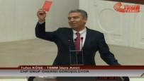 KIRMIZI KART - CHP'den Anaya Değişiklik Teklifine Kırmızı Kartlı Protesto