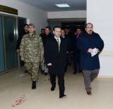 DICLE ÜNIVERSITESI - Diyarbakır Valisi Aksoy'dan Saldırıda Yaralanan Polislere Ziyaret