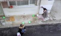 YAŞLI ADAM - İzmir'de Komşular Arasında Kedi Besleme Kavgası